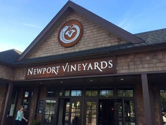 Newport Interactive marketers at the Newport Vineyards
